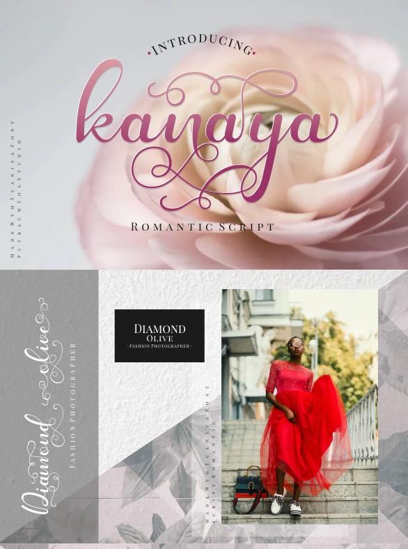 kanaya romantic font