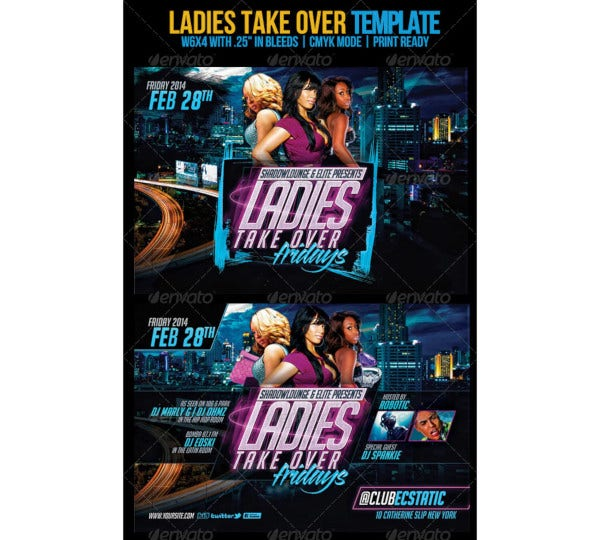 ladies take over flyer