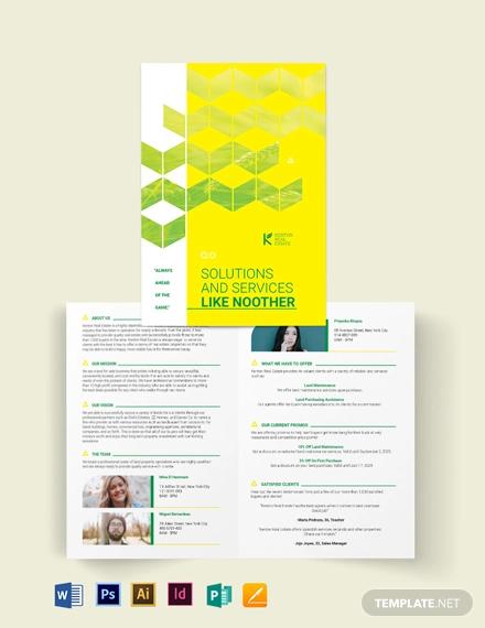 land for sale bi fold brochure template