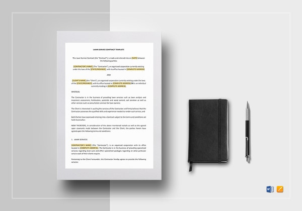 lawn-service-contract-template