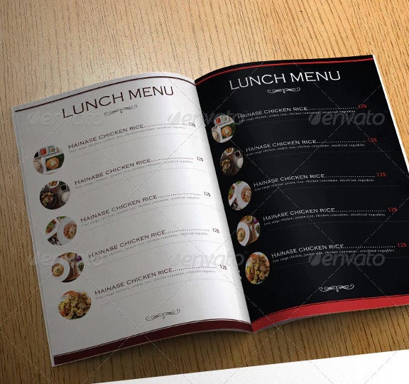 luxury restaurant menu design template