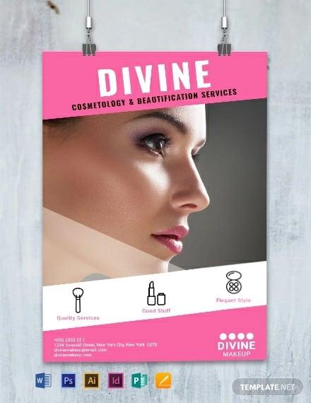 makeup artist poster template