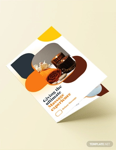massage bi fold brochure template