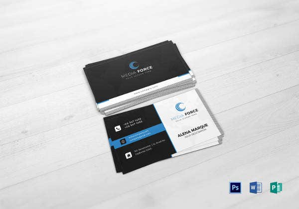 13 example of social media business card free premium templates editable media business card template fbccfo