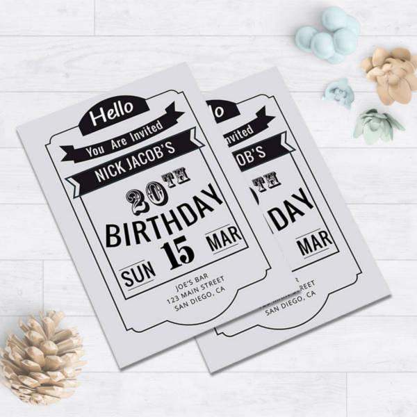 minimalist-20th-birthday-party-invitation