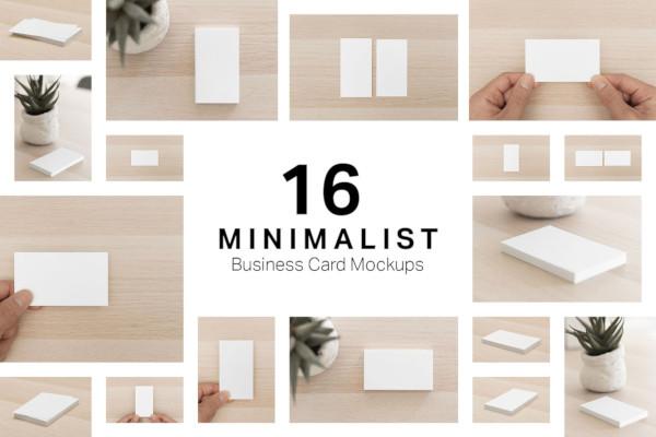 minimalist business card mockups