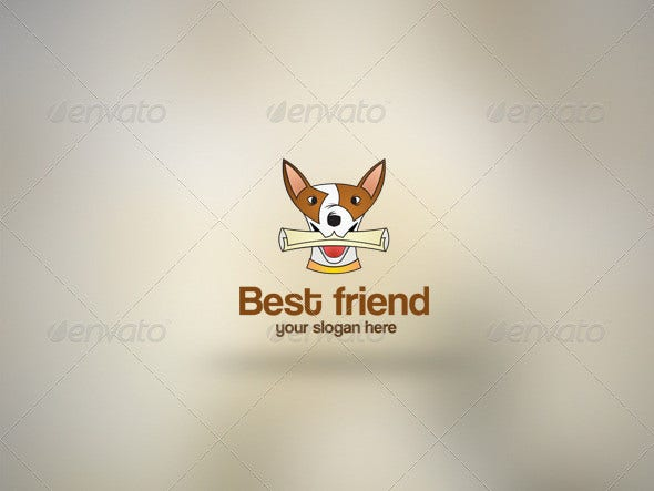 modern best friend logo template