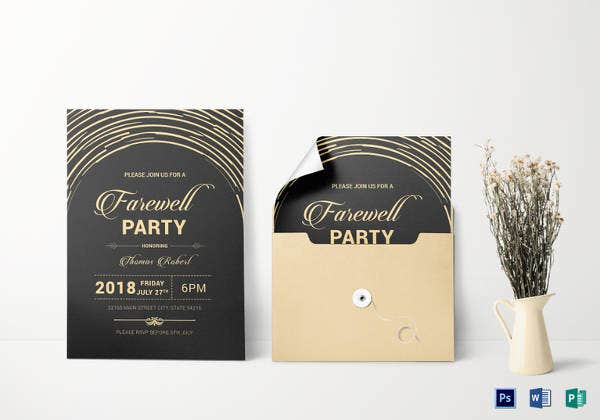 modern farewell party invitation
