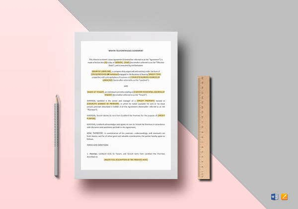 month to month lease agreement template2