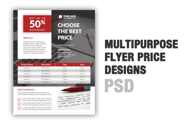 multipurpose flyer price design