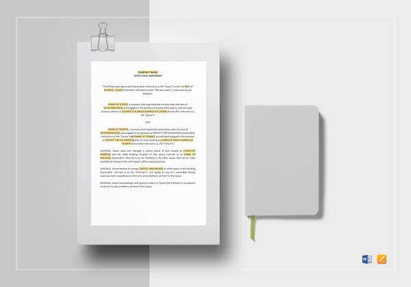 office lease agreement template1