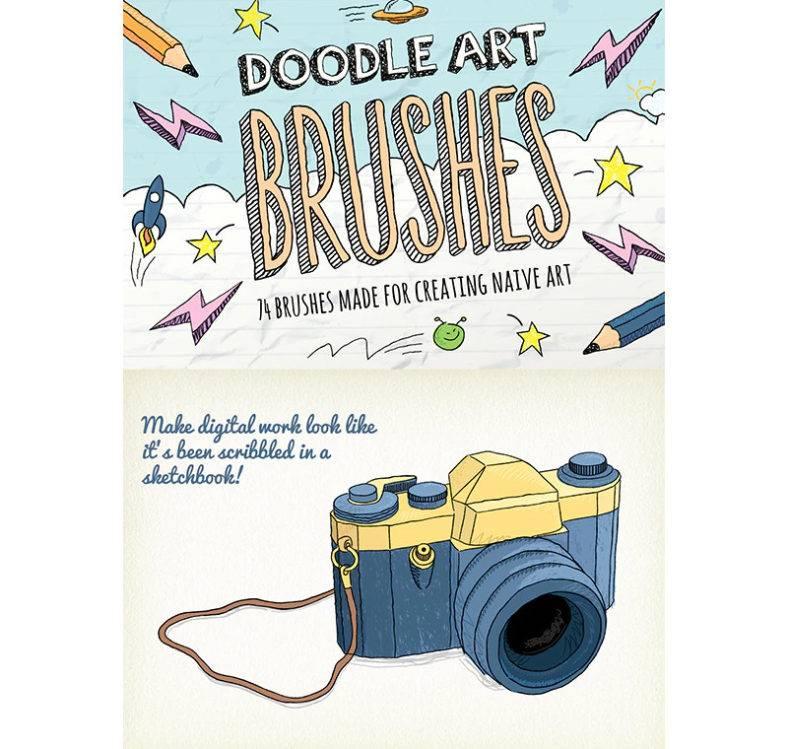 pencil doodle brushes 788x749