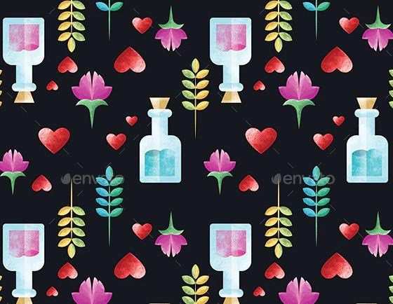 perfume seamless pattern