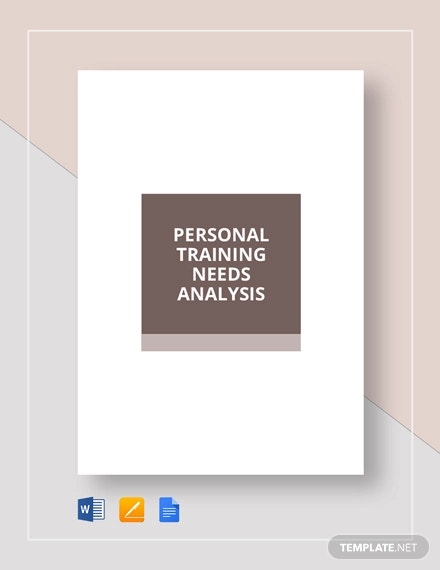 personal training needs analysis template1