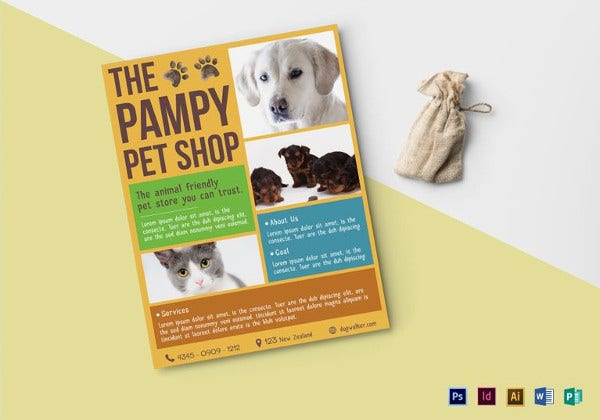 pet shop flyer template to print