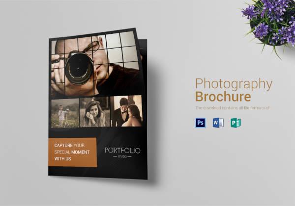 photography brochure bi fold template