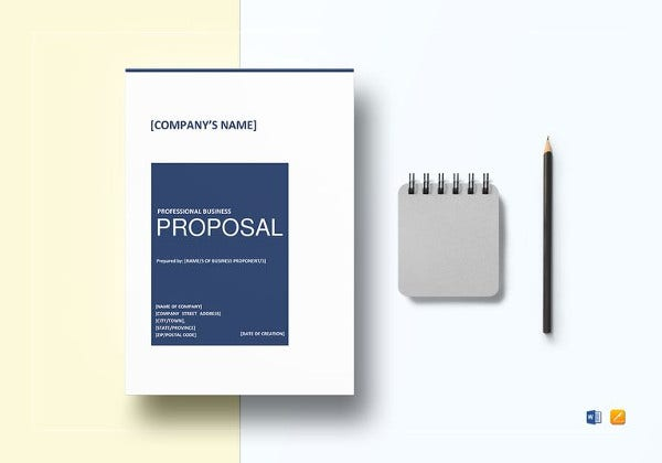printable professional business proposal template