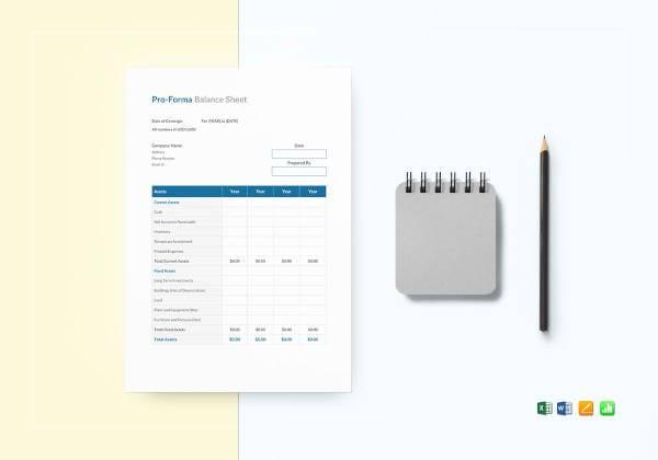 proforma-balance-sheet-template