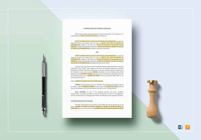 purchase-and-sale-of-shares-agreement-template