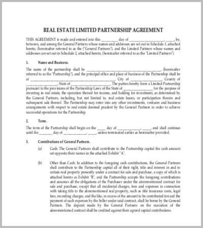 real-estate-partnership-agreement-template-pdf-format-download