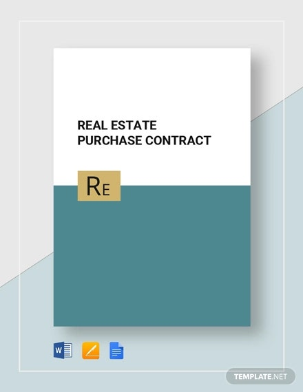 12 Real Estate Contract Templates Word Pages Docs Download