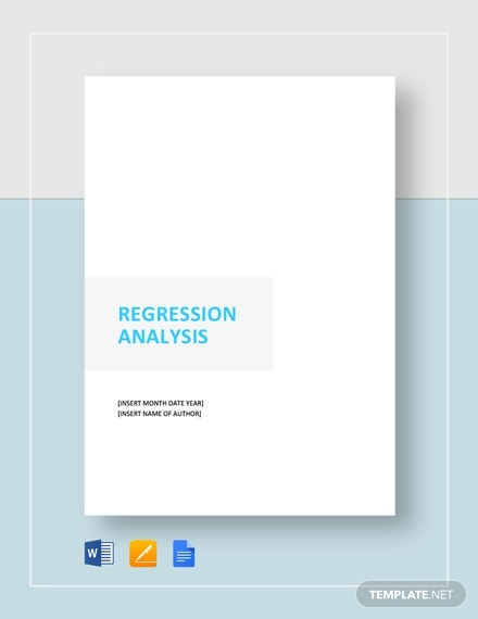 regression analysis template