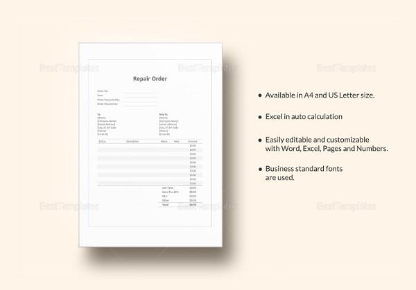 repair-order-template
