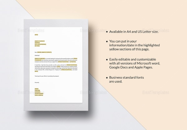Request For Proposal Template 10free Word Pdf Documents Download