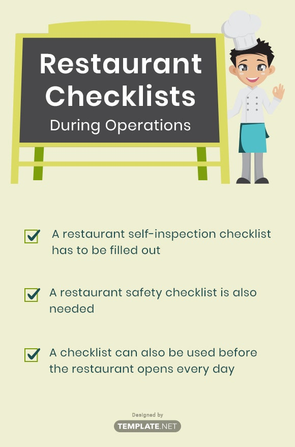 restaurant checklists during operations