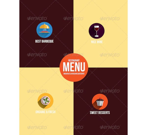 restaurant menu flat design1