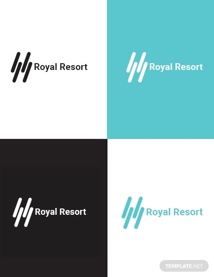 royal resort logo template