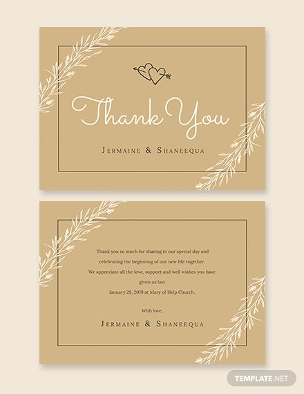rustic thank you card template2