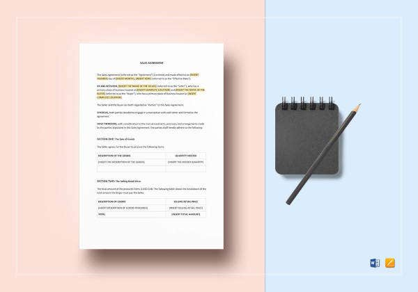 sales-agreement-template