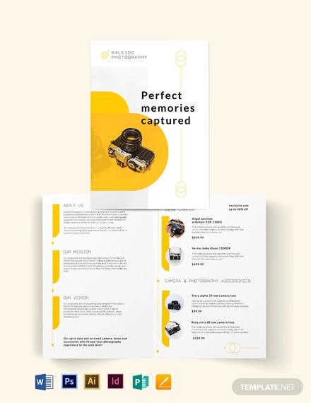 sales bi fold brochure template