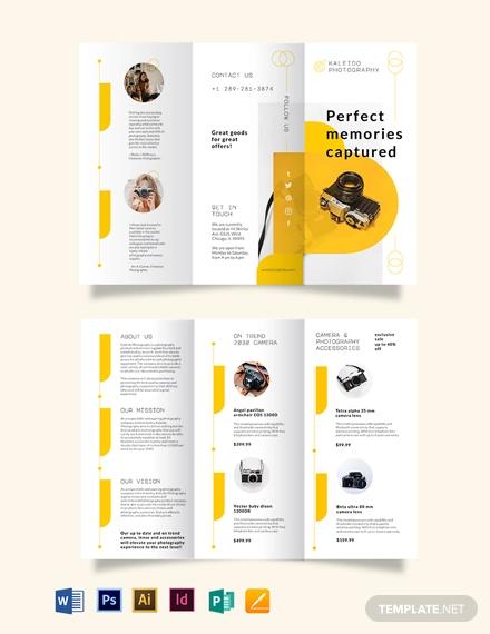 sales tri fold brochure template
