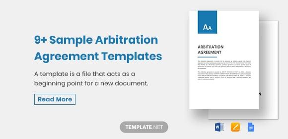 samplearbitrationagreementtemplates1