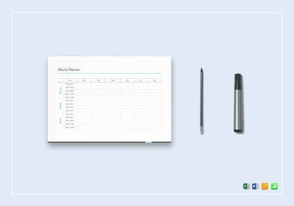 sample hourly planner template