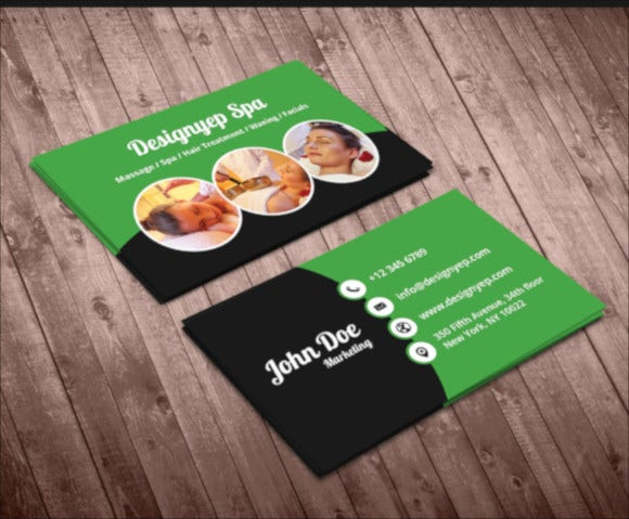 sample massage business card1