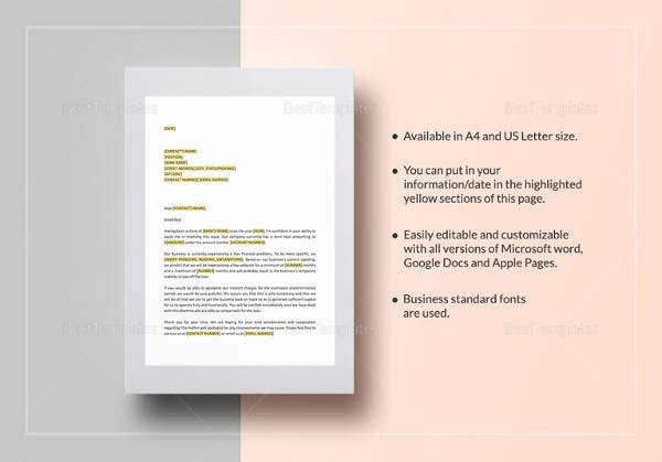 sample-request-deferral-of-interest-payment-template