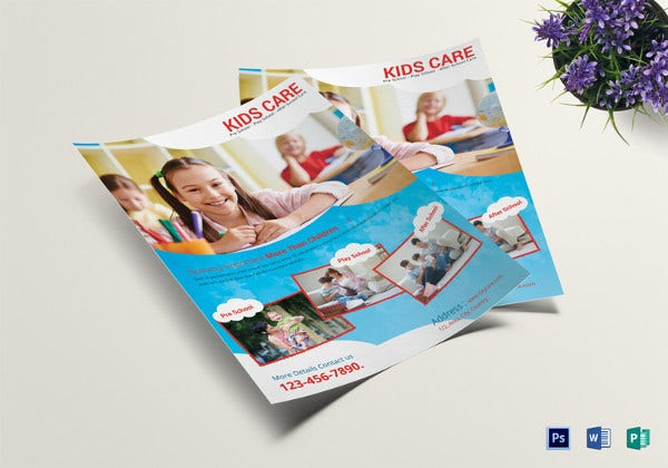 scholar-kids-care-centre-flyer-template