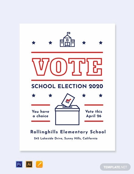 school campaign poster template1