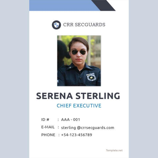 security guard id card template1
