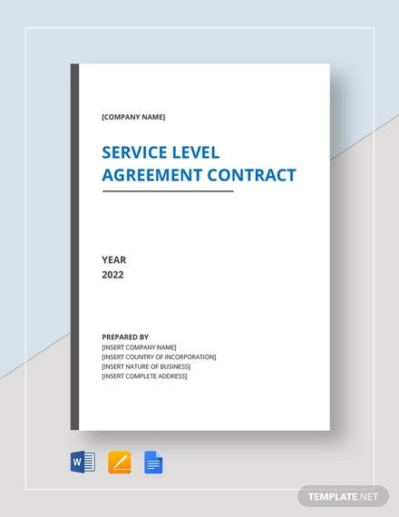 19 Sample Service Level Agreement Templates Word Pdf