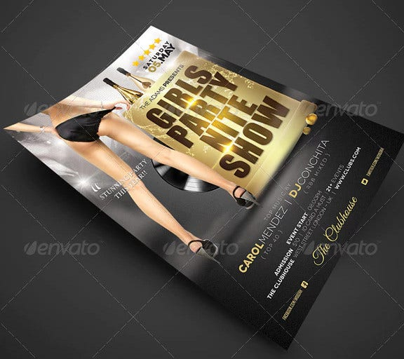 show party flyer poster template
