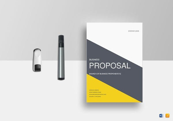 Business Proposal Template Word   Free Sample Example Format