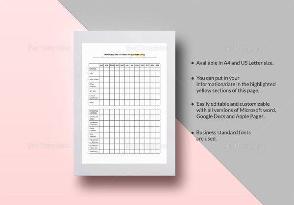 simple-income-statement-monthly-template