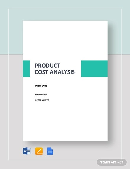 simple product cost analysis template