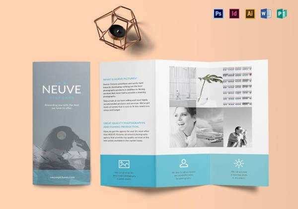 simple and clean photography brochure template