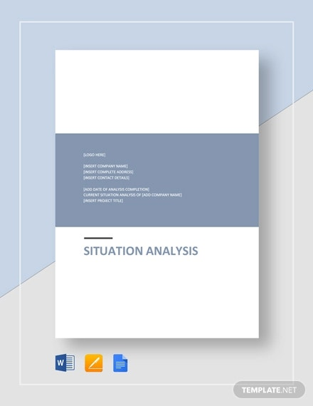 situation analysis template1