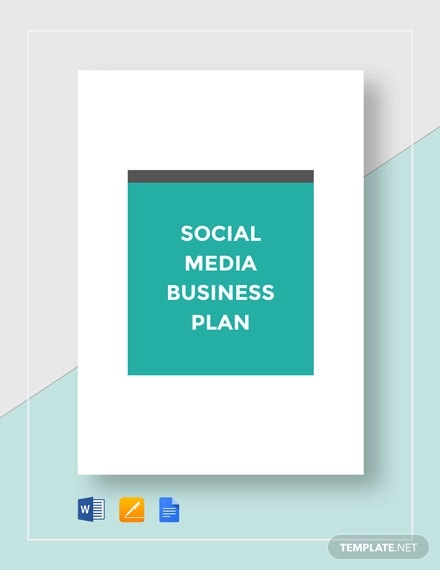 social media business plan template1